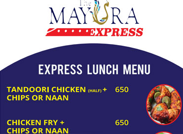 The Mayura restaurant Menu